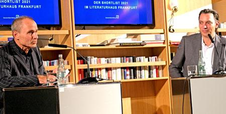 Norbert Gstrein im Gespräch mit Christoph Schroeder (freier Kritiker)  © Foto Diether v. Goddenthow