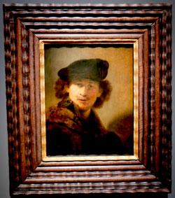 Rembrandt Selbstbildnis mit Samtbarett und Mantel mit Pelzkragen, 1634, Berlin Staatliche Museen, Gemäldegalerie. © Foto Diether v. Goddenthow